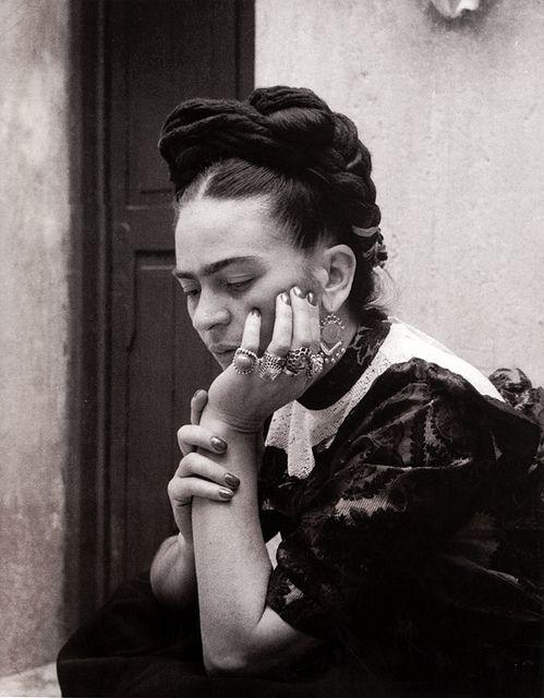 Frida Kahlo, photograph by Lola Álvarez Bravo, 1944 by dou_ble_you, via Flickr