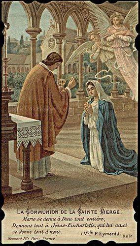Communion de la sainte vierge