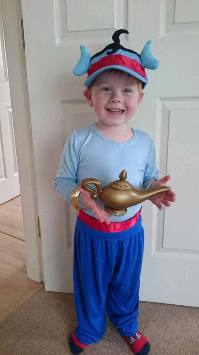 Cameron loves to dress up and, at the moment, his favourite characters are Peter Pan, Captain Hook and the Genie from Aladdin. We managed to get Peter Pan and Captain Hook costumes relatively easil…