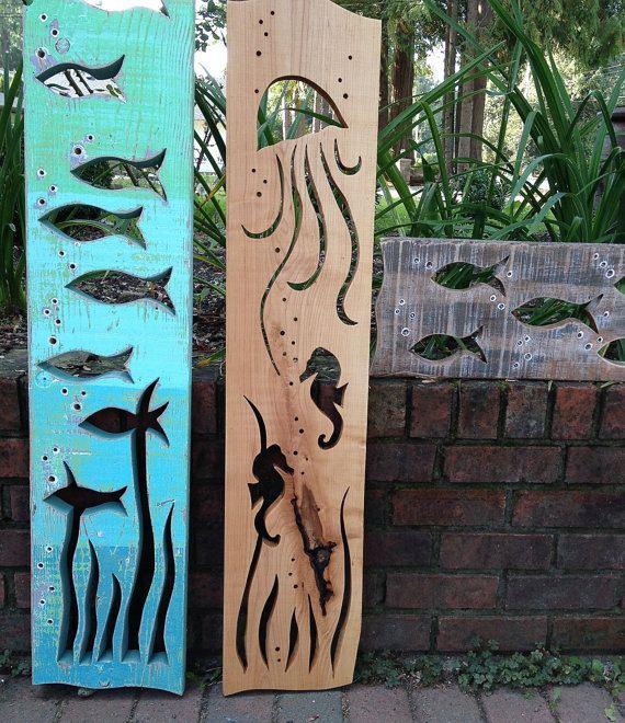 Seaglass Fish Wall Art Sculpture Wall Decor Beach by CastawaysHall