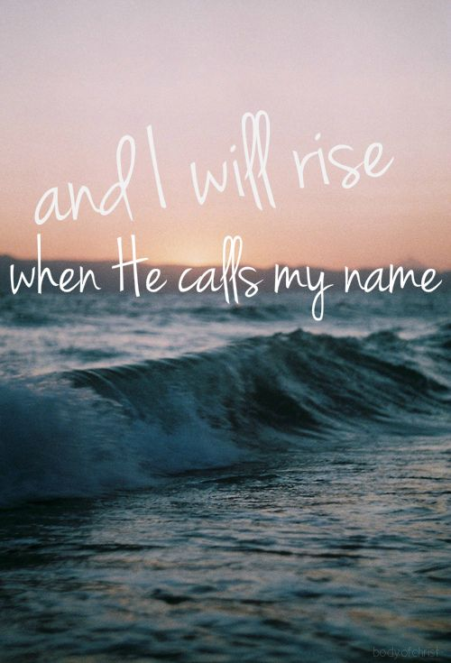 Chris Tomlin ~ I Will Rise...love this song!