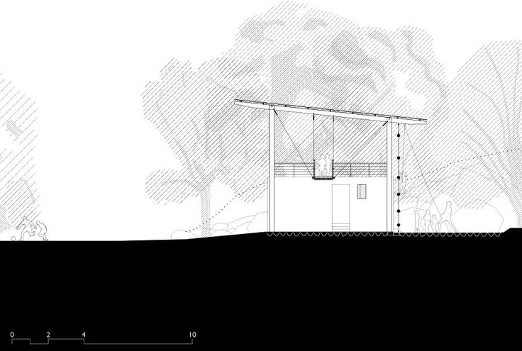 Magic Bus Learning Pavilion, Karjat - Architecture BRIO, India Cross Section #ArchitectureDrawing