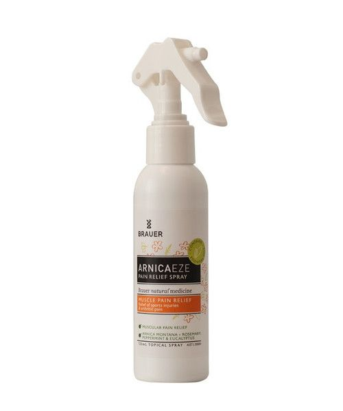 Arnicaeze Plus Pain Relief Spray 125mL- Arnicaeze Plus Pain Relief Spray combines the anti-inflammatory herb Arnica with essential oils traditionally used to help relieve muscular aches and pains and symptoms of sprains, strains and bruises often associated with sporting injuries. This spray makes an ideal addition to your sports bag and is particularly useful for areas that are sensitive, hard to reach or sore to touch.