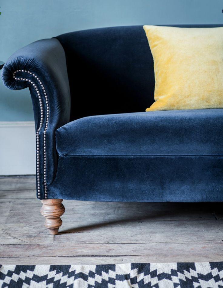 Regency Velvet Sofa by Rose & Grey