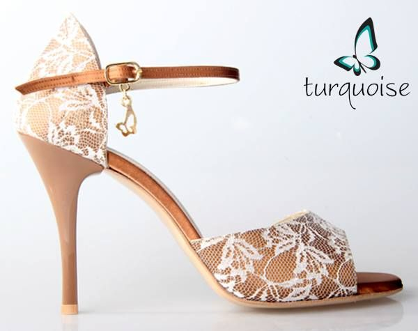 """Gorgeous yet comfortable cream and white lace dancing shoes from Amy's.   For more Alternative Wedding inspiration, check out the No Ordinary Wedding article """"20 Quirky Alternatives to the Traditional Wedding""""  http://www.noordinarywedding.com/inspiration/20-quirky-alternatives-traditional-wedding-part-2"""