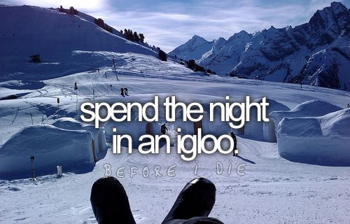 spend the night in an igloo: Blanket, Sleep Bags, Northern Lights, Exotic Places, Before I Die, Ice Hotels, The Buckets Lists, My Buckets Lists, Be Awesome