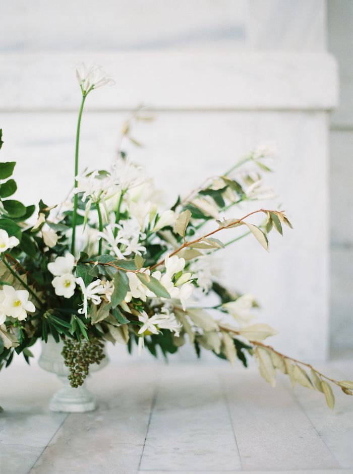 organic and wild white and green flowers