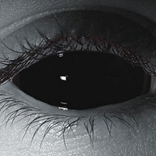 Black Sclera Custom Contact Lenses at Grimm Brothers Halloween