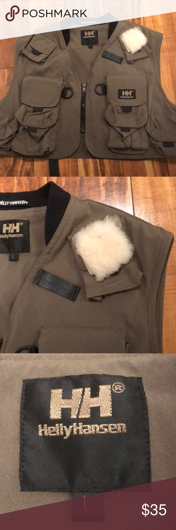 Helly Hansen paratrooper vest. Get your grunge on! Paratrooper style vest with lots of pockets for your ammo, I mean makeup!  💄 zips up front, zip pocket in back.  A fun look when you need to be ferocious. Helly Hansen Jackets & Coats Vests