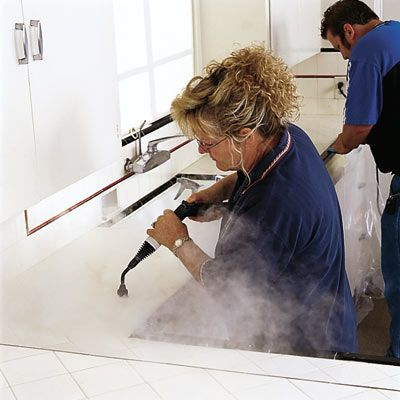 """All grout can be cleaned,"" says Debby Parker, a contractor who bills herself as The Tile Lady. Her secret weapon: a steam cleaner, which brings most any stain to the surface so it can simply be wiped away. Brushing on a penetrating sealer will keep the grout stain-free."