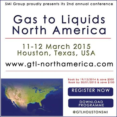 2nd annual Gas to Liquids North America on Wednesday March 11, 2015 at 9:00 am - Thursday March 12, 2015 at 5:00 pm at Marriott West Loop Hotel, 1750 West Loop South, Houston, 77027, USA. Category: Conferences, Price: 599 - 1299, The event will cover technical & commercial considerations associated with operating projects, the realities of the market from resource holders & developers, advancements in small scale GTL and more.