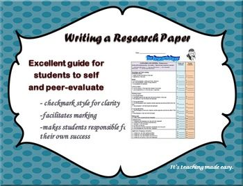 research paper evaluation rubric