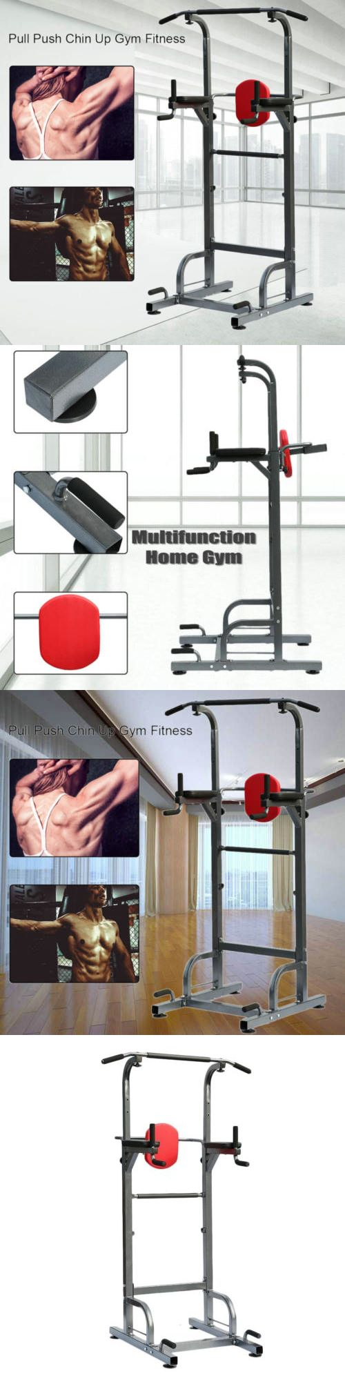 Push Up Stands 158925: Heavy Duty Dip Station Power Tower Pull Push Chin Up Bar Home Gym Fitness Stand -> BUY IT NOW ONLY: $94.05 on eBay!