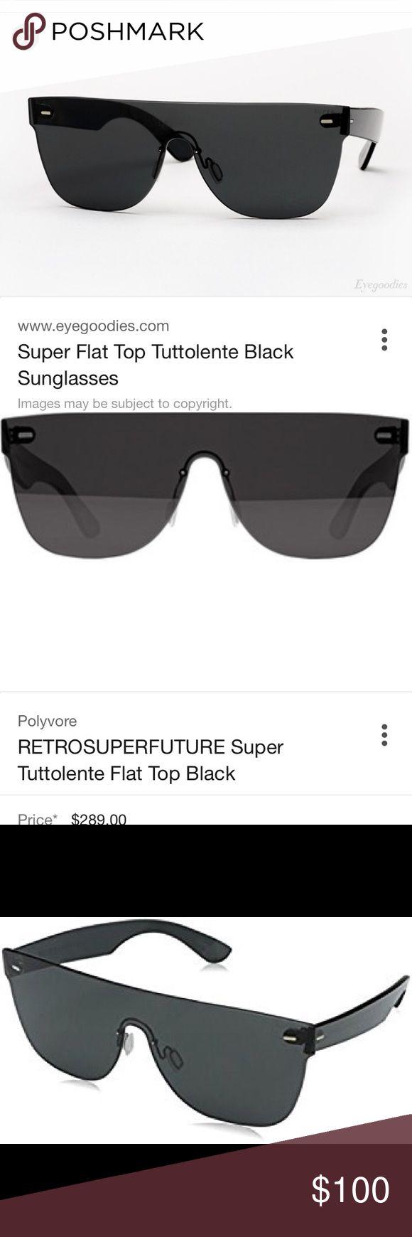 flat top sunglasses 9yum  Retro super future tuttolente flat top sunglasses