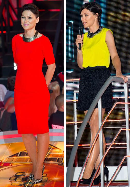 Emma Willis Celebrity Big Brother style bold colours