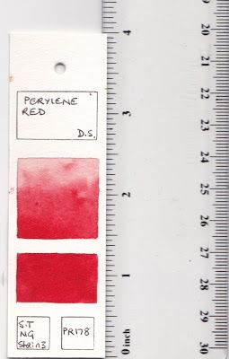 Jane Blundell: Testing watercolour - creating templates and test cards.