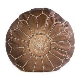 Bronze Moroccan Pouf
