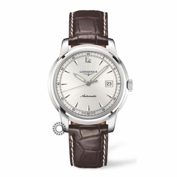 L2.766.4.79.2 Ανδρικό αυτόματο ρολόι LONGINES Saint-Imier Collection με καφέ λουρί,ασημί καντράν & ημερομηνία | Ρολόγια LONGINES ΤΣΑΛΔΑΡΗΣ στο Χαλάνδρι #SaintImier #longines #ρολόι