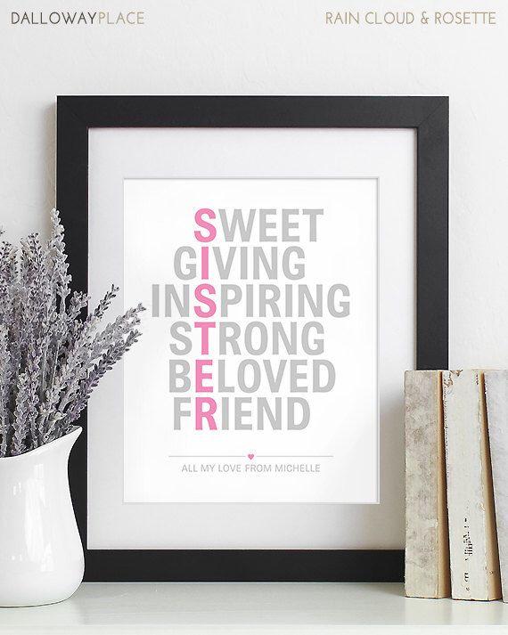 Sister Christmas Gift for Sister Gift Maid of Honor Sisters Birthday Gift Sister…