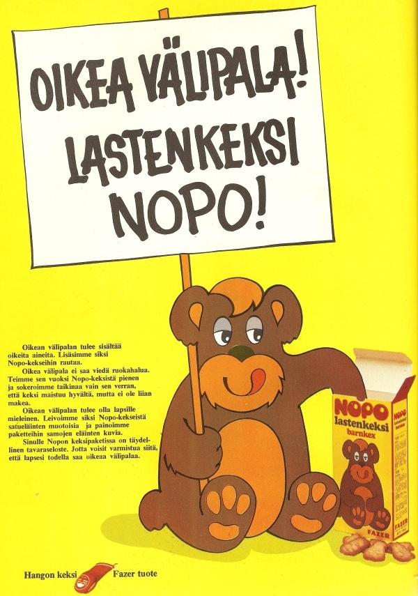 Nopo-keksi 70-luvun alkupuolelta. Näitä söin noihin aikoihin päivittäin.