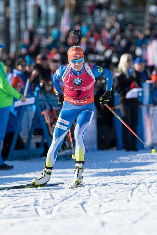 15.03.2015, Kontiolahti, Finland (FIN): Women Mass Start. Kaisa Mäkäräinen.- IBU world championship biathlon, Kontiolahti (FIN)