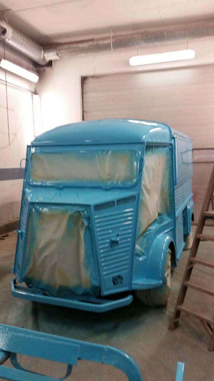 Final paint added. Citroen HY food truck.