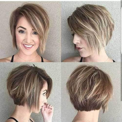 18 Fresh Layered Short Hairstyles For Round Faces Hair Pinterest
