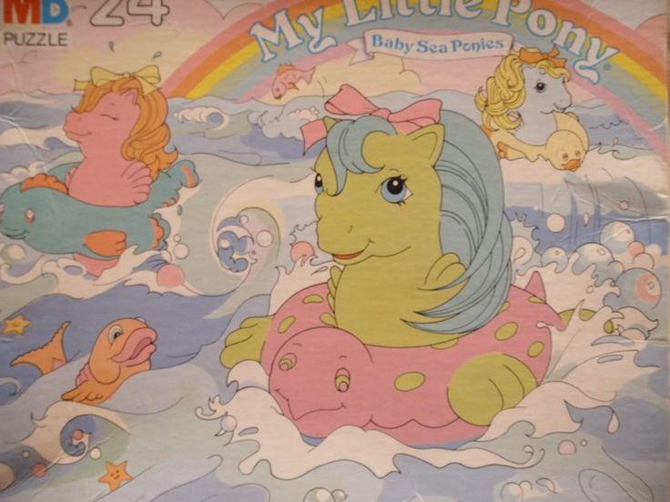 24 piece puzzle. Baby Sea Ponies. Milton Bradley