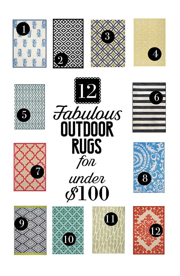 12 Fabulous Outdoor Rugs for Under $100!   Less Than Perfect Life of Bliss   home, diy, travel, parties, family, faith