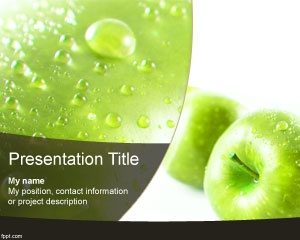 34 best food powerpoint templates images on pinterest ppt template this is green apple powerpoint template a free ppt template with fruit image in the toneelgroepblik Image collections