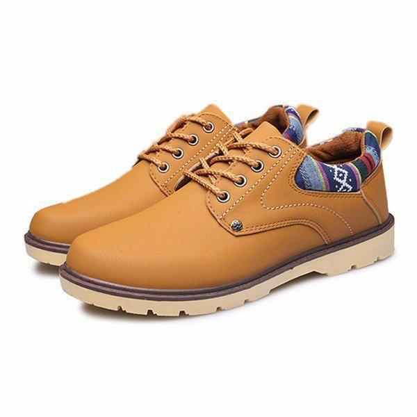 British Lace Up Round Toe Oxford Shoes For Men - US$34.99  #men #shoes #fashion