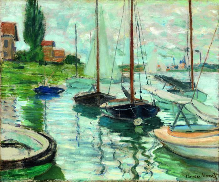 Claude Monet Boats Moored at Le Petit-Gennevilliers, 1874 Photo credit John R. Glembin