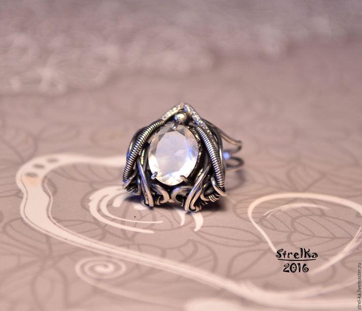 Купить Кольцо В Плену у Лунного Света - wire wrap, wrap, wire, strelka, подарок