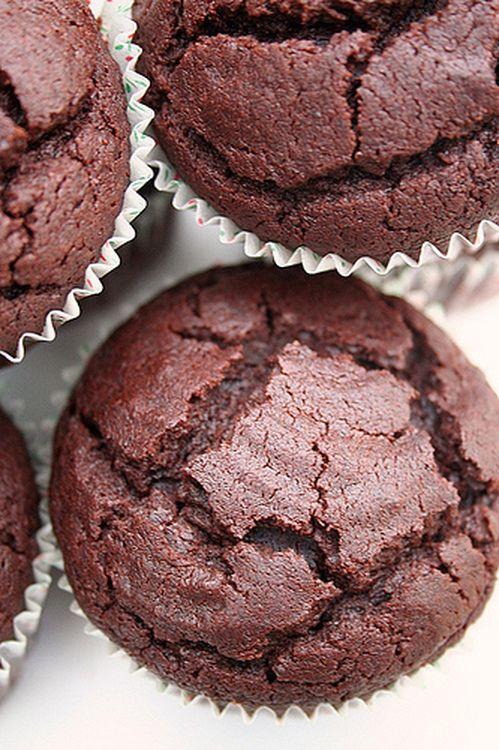 Muffins tout chocolat coeur fondant