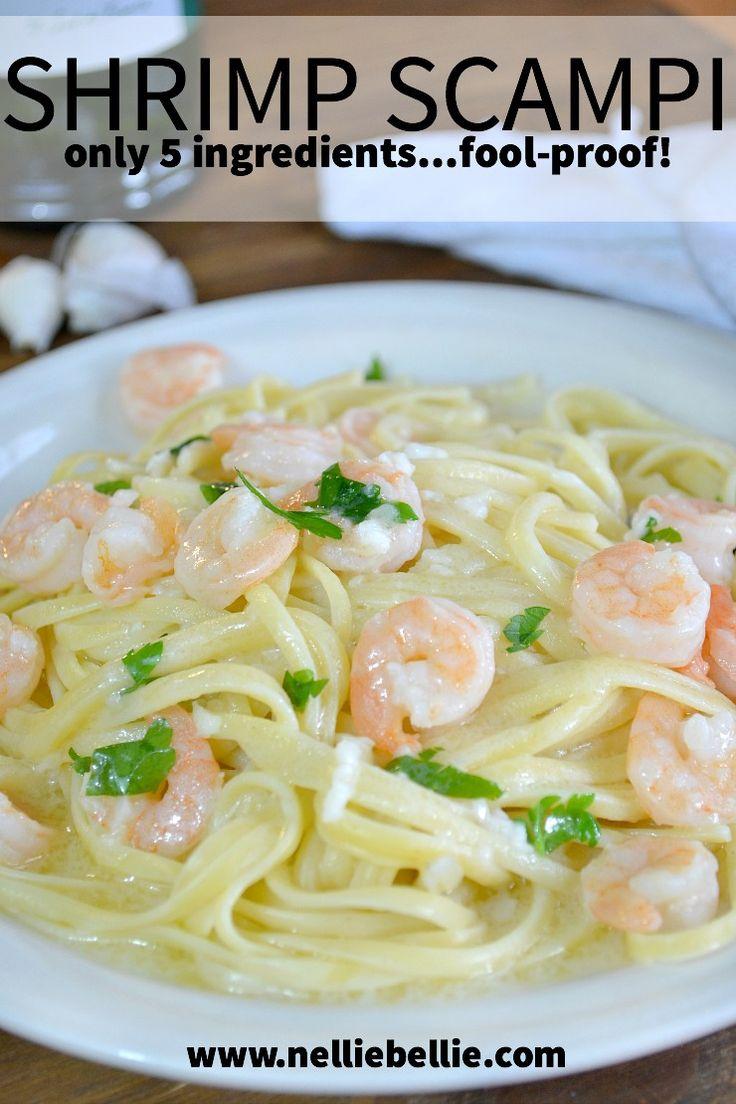 easy shrimp scampi for even a beginner! Delicious! from www.nelliebellie.com #recipes #shrimp #scampi