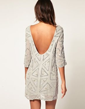 ASOS Shift Dress With Sparkle Detail