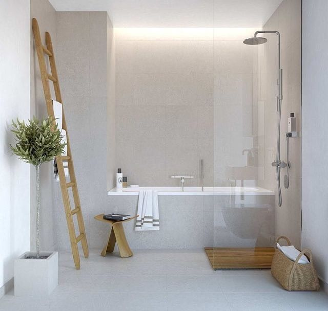 Project of today finding the perfect bathroom #project #bathroom #concrete…