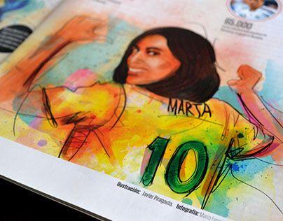 "Check out new work on my @Behance portfolio: ""Futbol femenino - Cromos magazine / illustrations"" http://on.be.net/1JRi3PD"