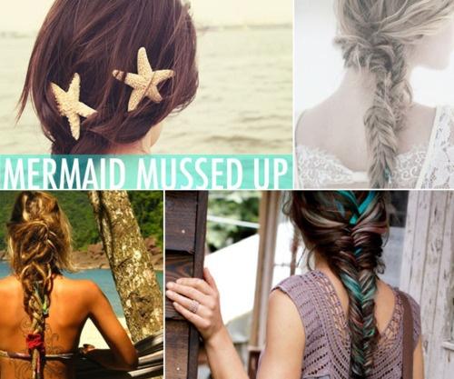 mermaid and beach inspired braids