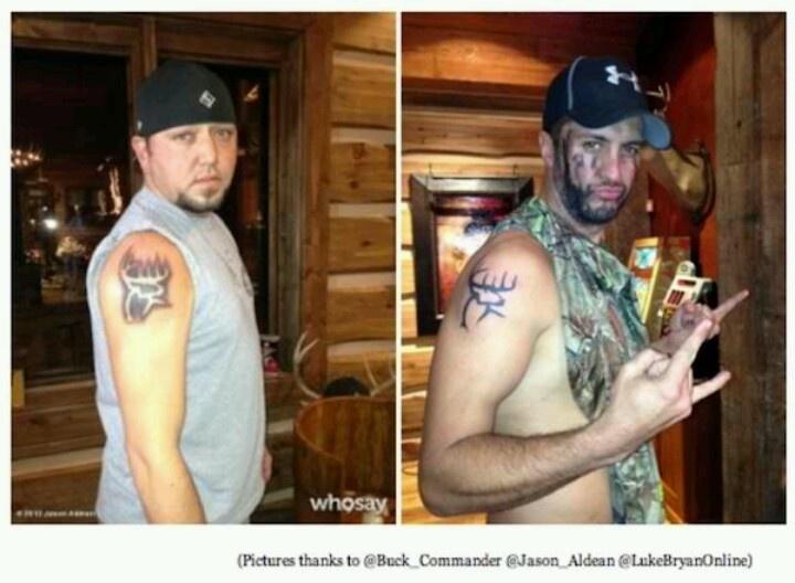 jason aldean and luke bryans buck commander tattoos mmmmm