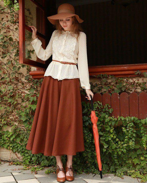 cheap long maxi mature women winter skirts 2012