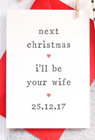 16 Adorable Fiance Christmas Cards for Your Bae! gift ideas