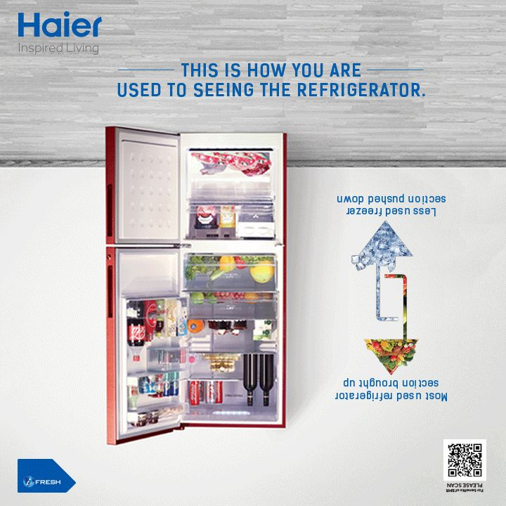 Ulte ko Seedha Kiya! Introducing Haier #BottomMountedRefrigerator with its advanced features of Convenience, Accessibility and Visibility! Get ready to transform your experience in the kitchen! #HaierIndia #Innovation #Technology #Appliances #InspiredLiving #Lifestyle #Refrigerator