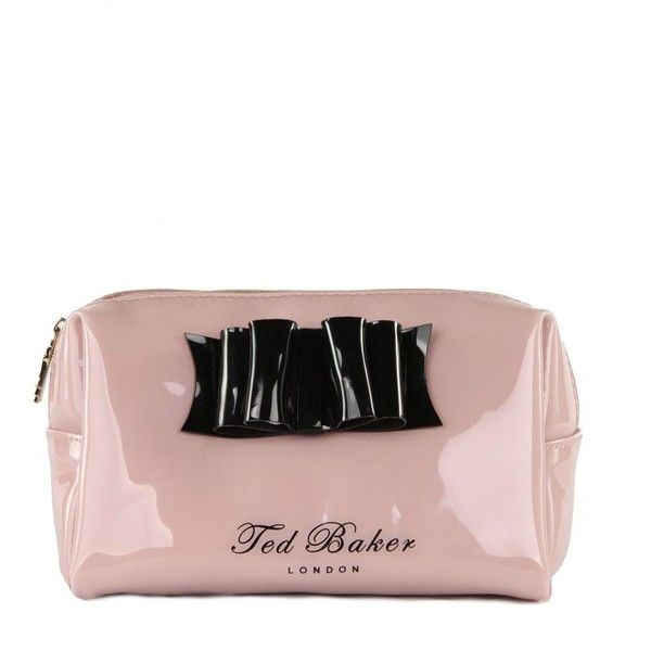 Ted Baker Women's Normar Small Bow Pale Pink Wash Bag (795 UYU) ❤ liked on Polyvore featuring bags and bolsas