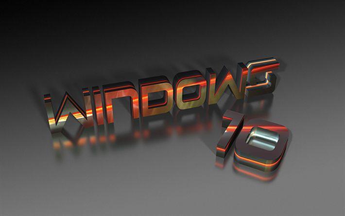 Download wallpapers Windows 10, 3d digits, art creative, Microsoft