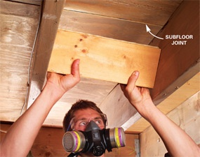 1000 images about how to fix squeaky wood floors on for How to fix squeaky hardwood floors from above