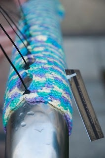 yarn bomb 'how-to'-I've done a little yarn bombing in my town & I highly recommend it-it makes people smile