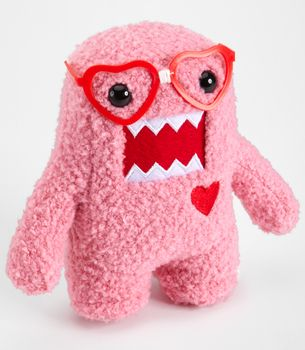 Pink Nerd Domo In Love Plush. Cool Valentine's Day gift. Wish I'd seen this sooner. Oh well, maybe next year.