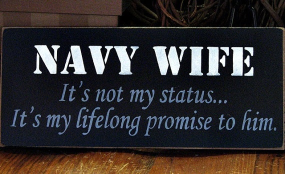 """I love my sailor - I need to make this to go along with my """"Home is where the Navy sends us"""" sign"""