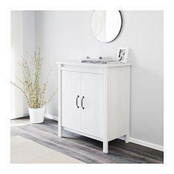 IKEA - BRUSALI, Kast met deuren, bruin, , Met de verstelbare planken kan je de opbergruimte naar behoefte indelen.
